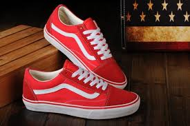 vans red and white. vans shoes red white original old skool unisex low and