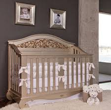Elegant Nursery With Charcoal Gray Walls Ivory And Gold Baby  Crib