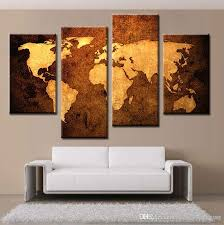modern art space world map paintings home wall art canvas printing with world map wall art