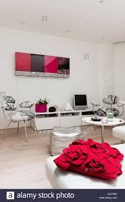 John Lewis Living Room Furniture Red Cushion From John Lewis On White Modular Edra Sofa In Living