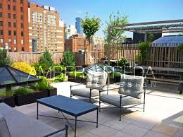roof deck furniture. Image Of Roof Deck With Pergola, Dining Area, Lounging Furniture, Planters Filled Furniture