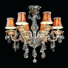 decoration sparkling hand cut rock crystal drops beautiful pattern bell shades 6 light classic chandelier