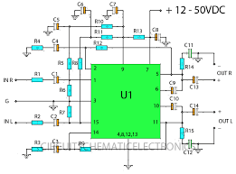 stereo w stk ics amplifier circuit circuit wiring diagrams schematic stk amplifier