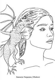 Daenerys Game Of Thrones Coloring Page Coloring Pages Coloring