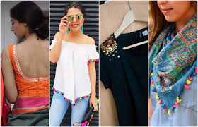 diy upgrade your old clothes with small elements that you can find easily