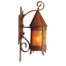 1stdibs mission arts crafts outdoor wall sconce with mica inserts