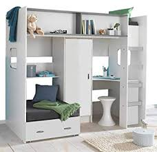 bed with wardrobe. Perfect With Mrsflatpack RUTLAND BED  WITH WARDROBE DESK AND PULLOUT WHITE NO  MATTRESSES OR SEAT CUSHIONS Throughout Bed With Wardrobe