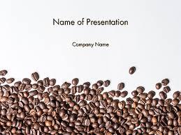 coffee beans background. Exellent Coffee Scattered Coffee Beans Background PowerPoint Template 14718 Food U0026  Beverage U2014 PoweredTemplatecom Intended