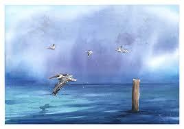 pelican watercolor landscape painting artist eric sweet