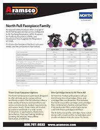 Honeywell Respirator Cartridge Chart North By Honeywell Ru6500 Facepiece At Aramsco