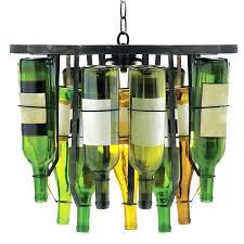 wine rack chandelier bottle diy glass