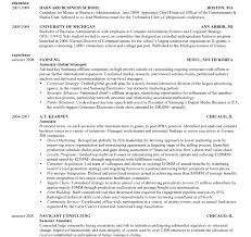 Resume Template Harvard Business School Resume Work Template