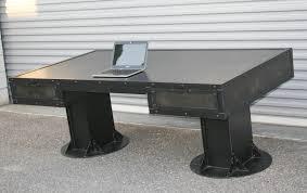 vintage steel furniture. I-Beam Desk With Drawers Vintage Steel Furniture