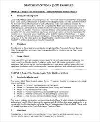 It Statement Of Work Sample Statement Of Work Under Fontanacountryinn Com