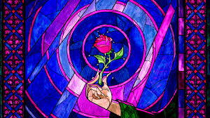 beauty and the beast images stained glass wallpaper hd wallpaper and background photos