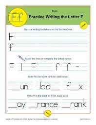 Practice Letter F