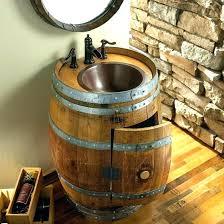 barrel sink bathroom captivating barrel sink bathroom whiskey barrel sink whiskey barrel sinks how to make barrel sink bathroom