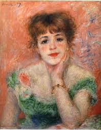 jeanne samary in a low necked dress 1877