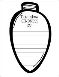 Kindness Christmas Lights Lights Of Kindness Holiday Craft And Writing Activity