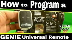 how to program a genie universal remote