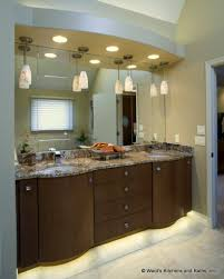 Curved Bathroom Vanity Cabinet Contemporary Curved Bath Vanity Cabinets With Toe Space Lighting