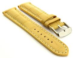 mens genuine leather watch strap band vip alligator grain ss mens genuine leather watch strap band vip alligator
