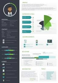 Visual Cv Builder 1222 Best Infographic Visual Resumes Images In 2019