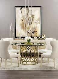 modern round dining room table we love the soft colors and all the shimmering eye catching