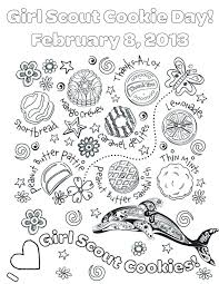 girl scout cookie coloring pages. Brilliant Pages New Girl Scout Cookie Coloring Pages Download 5e   For U