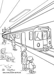 ぬりえページ 鉄道車両