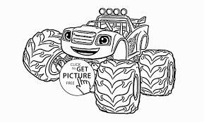 Mini Monster Truck Coloring Page For