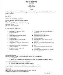 Nursing Resume Objective Examples New Graduate Nurse Resume New Grad
