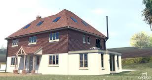 image showing a 3d visulisation of a house design