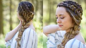 Pretty Girl Hair Style double dutch side braid diy back to school hairstyle cute 8064 by wearticles.com