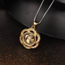 k gold pendants for women womens stainless steel anchor pendant necklace gold with free round earrings small ping promall philippines