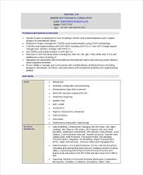 Technical Resume Extraordinary Technical Resume Template 28 Free Word PDF Document Downloads
