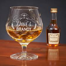 crystal cut brandy glass set 33 99 personalised double goblet gift