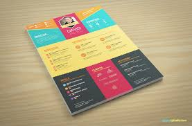Colorful Resume Templates Download Professional Resume Template For Designers 100 PSDs 66