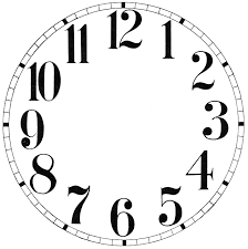 11 Clock Face Images Print Your Own The Graphics Fairy