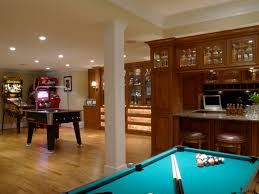 Amazing Teal Billiard Top With Wooden Bar Storage As Vintage Basement Man  Room Ideas