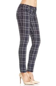 Genetic Denim Shya Plaid Skinny Jeans