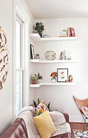 corner shelves a smart small space