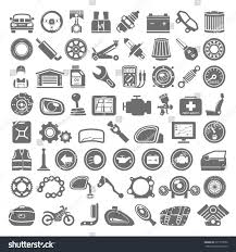black icons car motorcycle parts stock vector 331770050 shutterstock