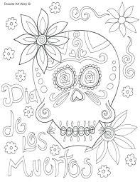 Day Of The Dead Coloring Pages Skull Day Of The Free Printable Dead