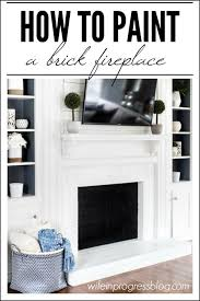 this is a good tutorial on how to paint a brick fireplace white gives the