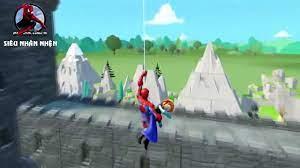 Phim Hoạt Hình Siêu nhân nhện hoạt hình, siêu nhân người nhện đánh nhau, xe  hoạt