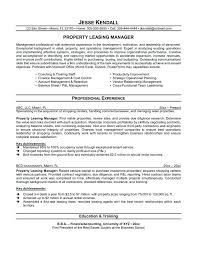 Sample Leasing Agent Resume