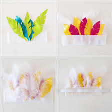 diy duct tape feather headdress sweet things