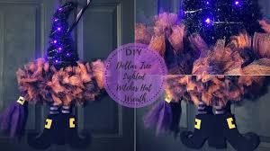 Diy Dollar Tree Lighted Witch Hat Wreath Halloween Decor