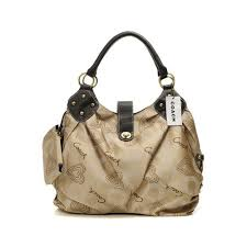 Coach Waverly Logo Medium Khaki Satchels DNU